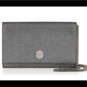 Jimmy Choo Silver Glitter Chain Handbag
